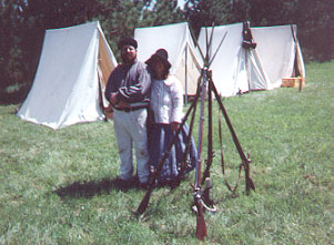 The Websergeant and his wife at the Northwest Company Post at Pine City, MN