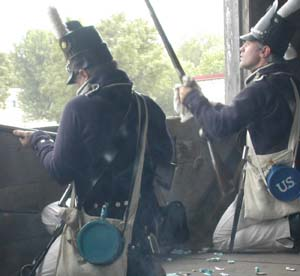 American defenders at Prairie du Chien